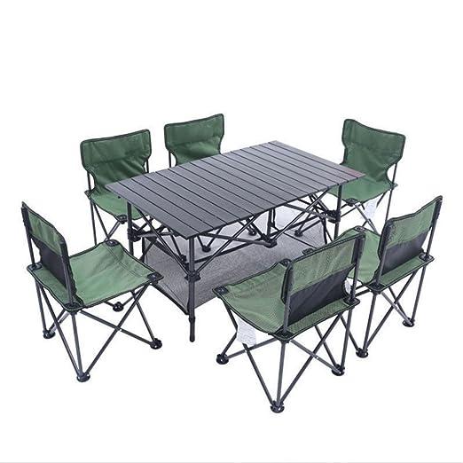 Gghy-camping tables Juego de Mesa y Silla Plegables al Aire Libre ...