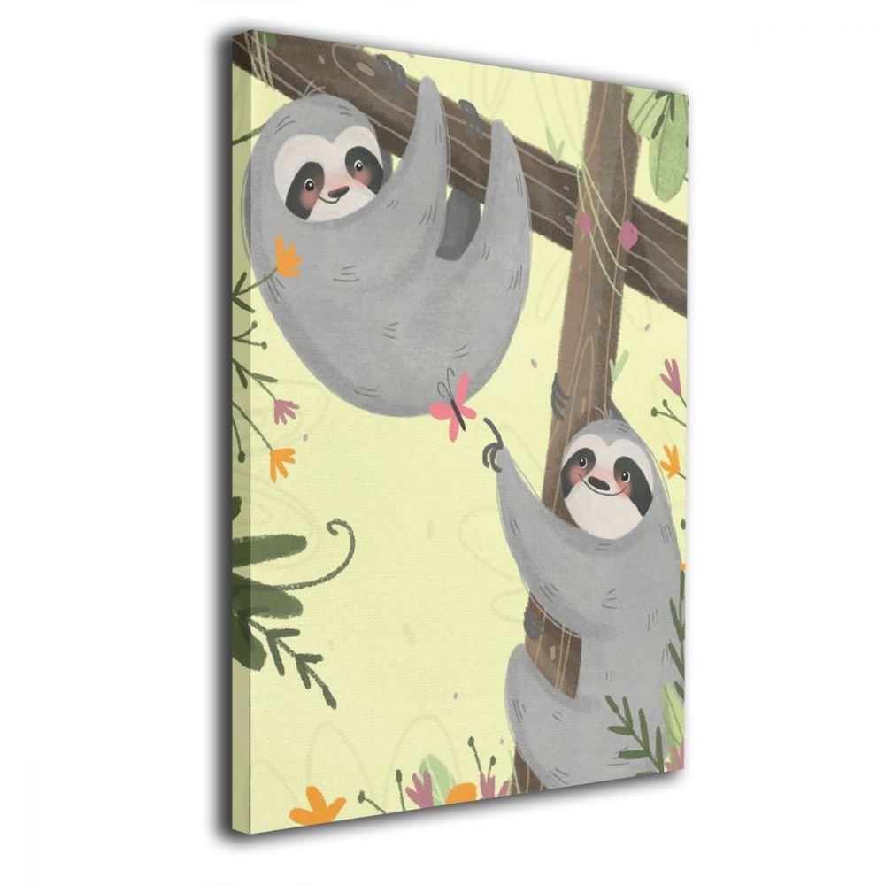 Amazon.com: CARRYFUTURE Sloth Playing Butterfly Animal Modern ...