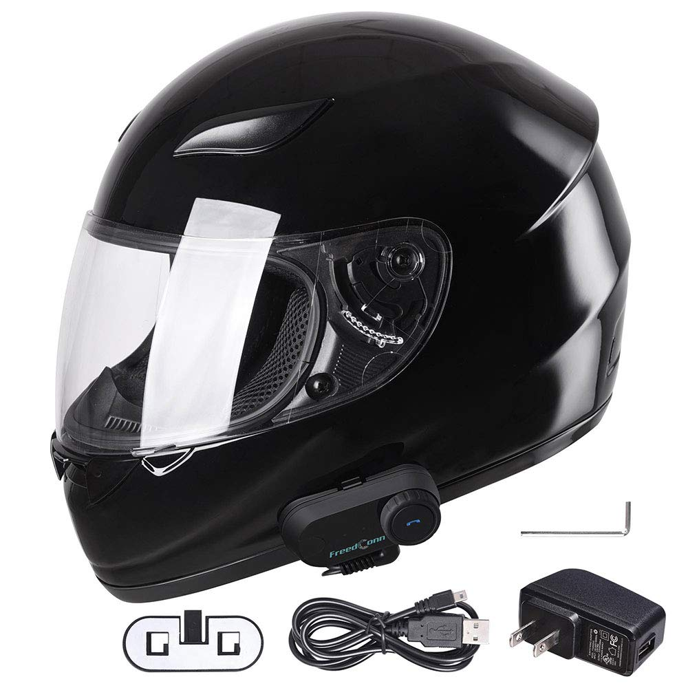 Yescom Bluetooth Motorcycle Modular Helmet Full Face with Wireless Headset Hands Free Intercom MP3 FM DOT