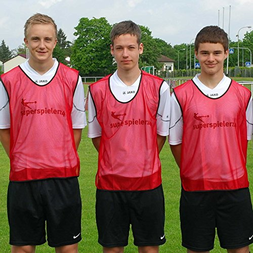 Leibchen für Erwachsene, Farbe: rot, für Teamsportbedarf - Fußballtraining