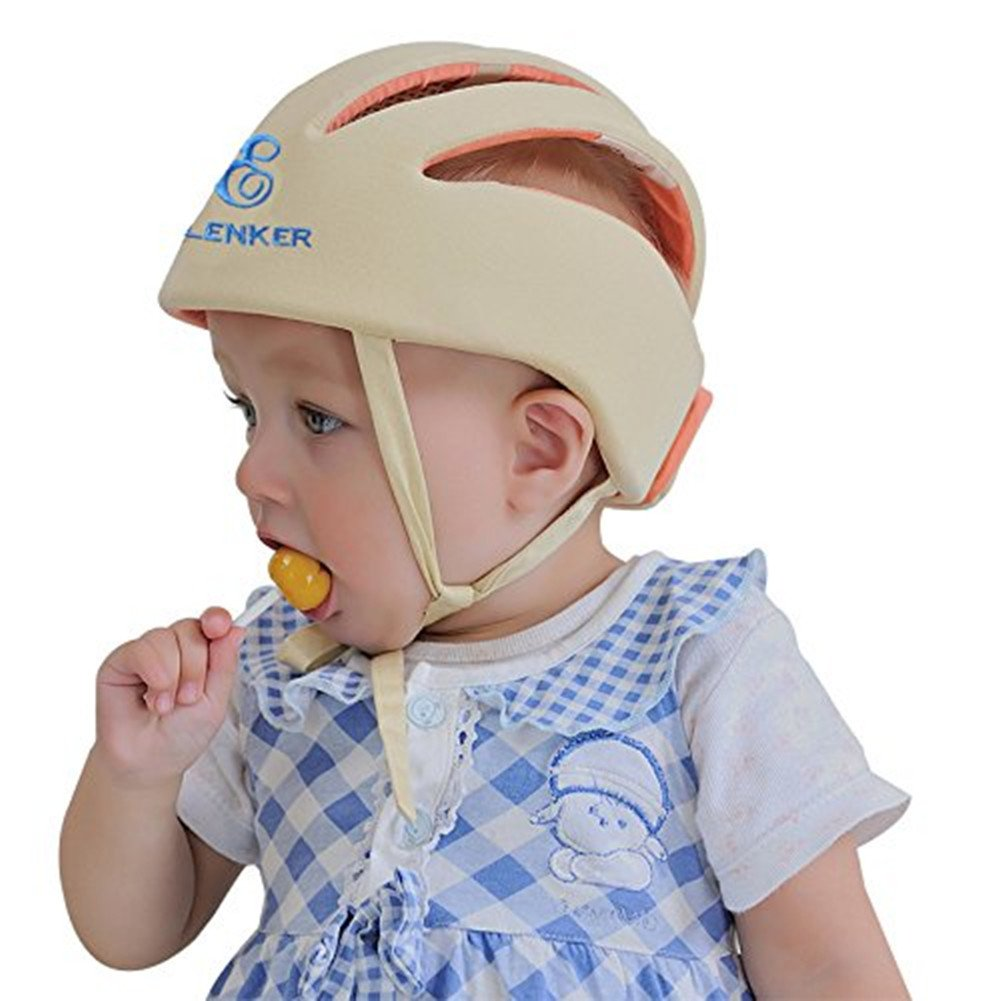 ELENKER Adjustable Baby Toddler Safety Helmet Hat Head Protection Blue HappyUK