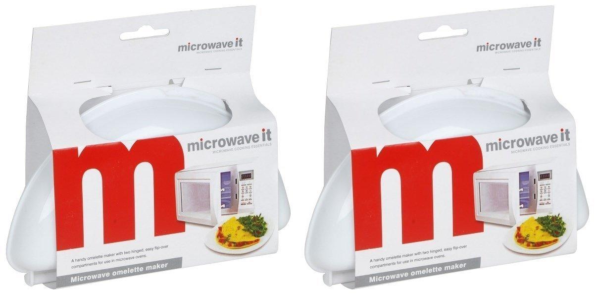 2 moldes de plástico para tortillas de Microwave It: Amazon.es: Hogar