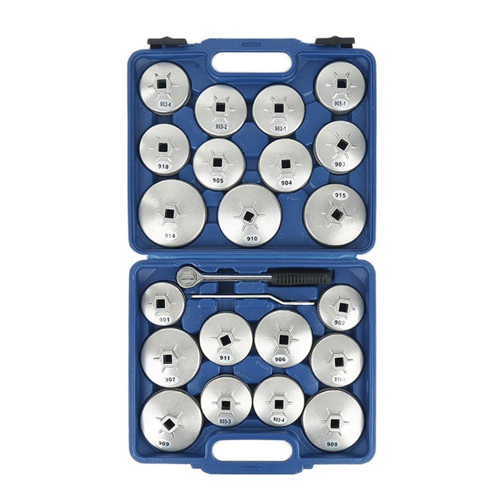 23Pcs oil filter, wrench socket removal kit, oil filter kit, aluminum alloy, auto repair kit, suitable for various models Turefans