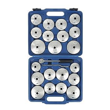 23PCS filtro de aceite,Llave para Filtro de Aceite, Filtro de aceite Copa Llave