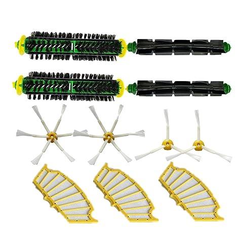 LOVE(TM)Kit de filtros de cerdas del cepillo batidor flexible y armados por