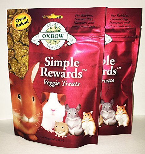 2 Pack Oxbow Animal Health Simple Rewards Veggie Treat for Pets (2 / 2.0 oz)