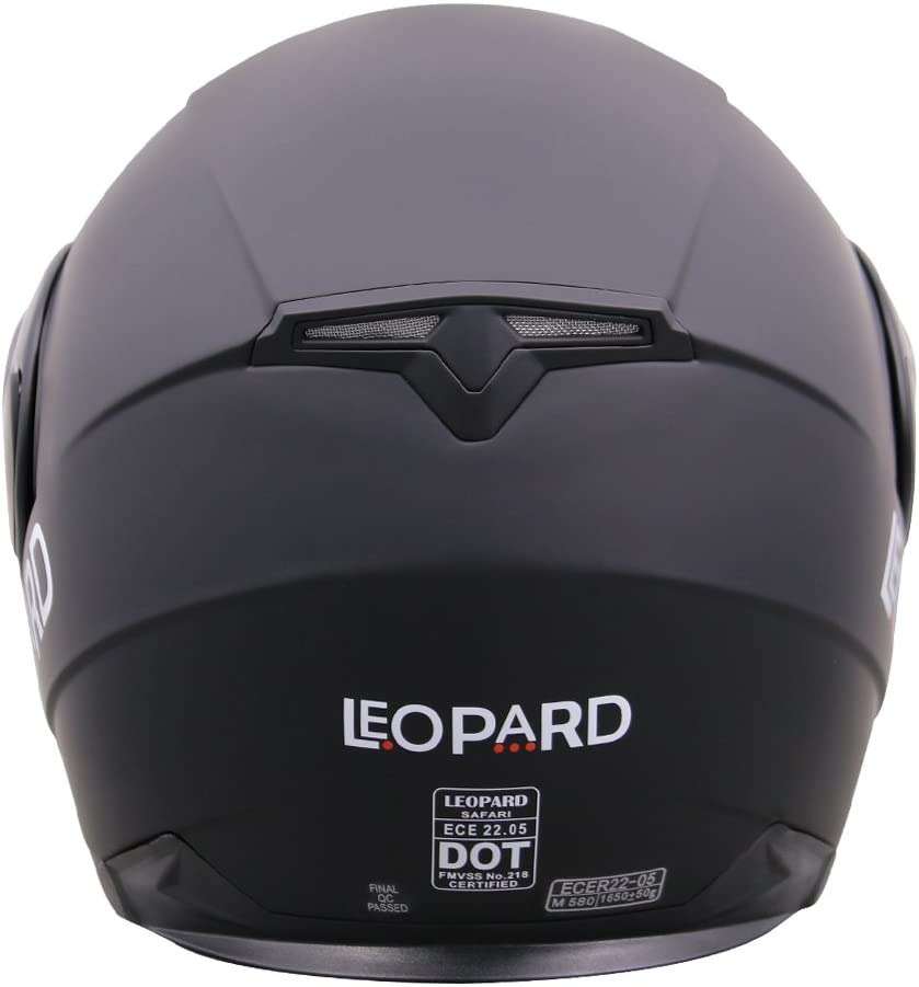 61-62cm Leopard LEO-838 Doppelvisier Klapphelm Integralhelm mit Sonnenblende Motorradhelm #02 Wei/ß XL Damen und Herren ECE Genehmigt