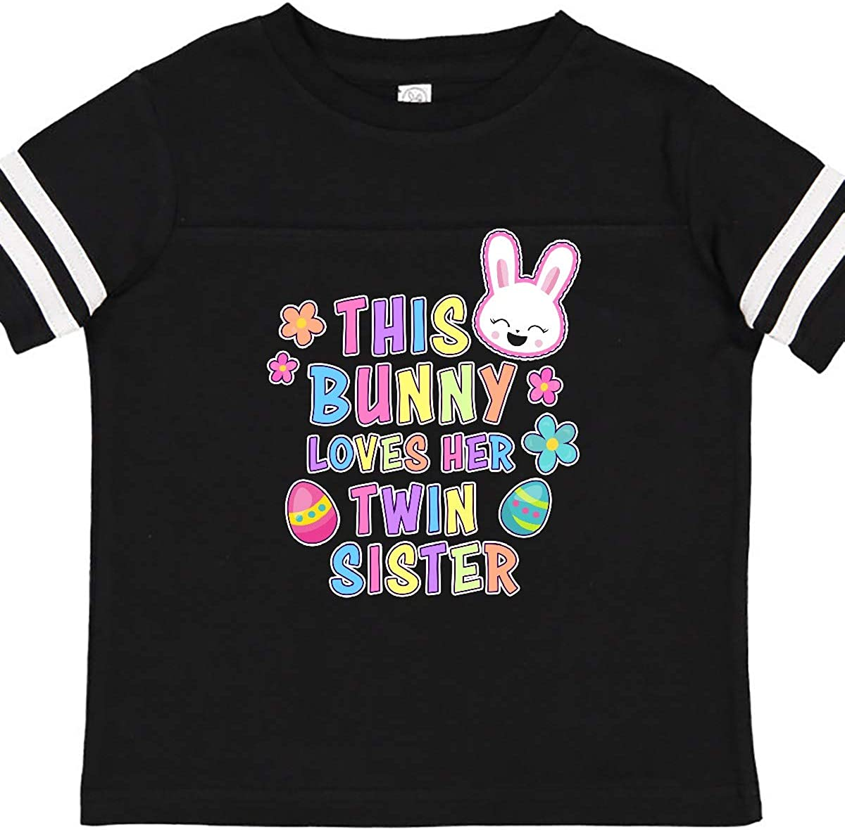inktastic This Bunny Loves Her Twin Sister with Bunny Face and Toddler T-Shirt