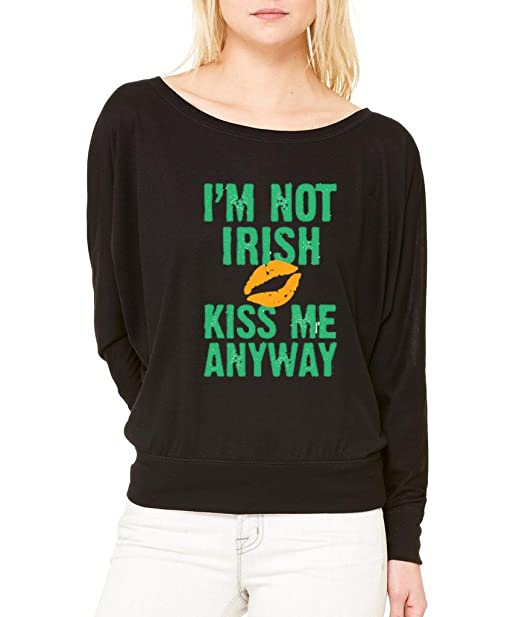 KISS ME I/'M IRISH Adult Long Sleeve T-Shirt S-3XL