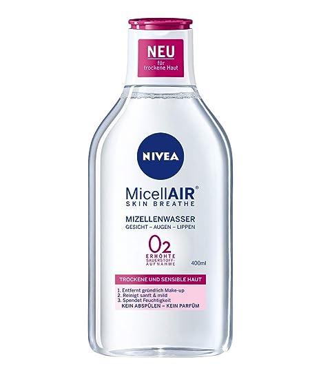 Nivea Mizell Agua para piel seca, 2 in1 de limpieza y Make Up Entferner,