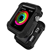 Apple Watch 3/2/1 Case, UMTELE Rugged Shock Proof Bumper Cover Scratch Resistant Protective Case for Apple Watch Nike+, Series 3, Series 2, Series 1