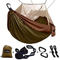 Deals on Single & Double Camping Hammock with Mosquito/Bug Net