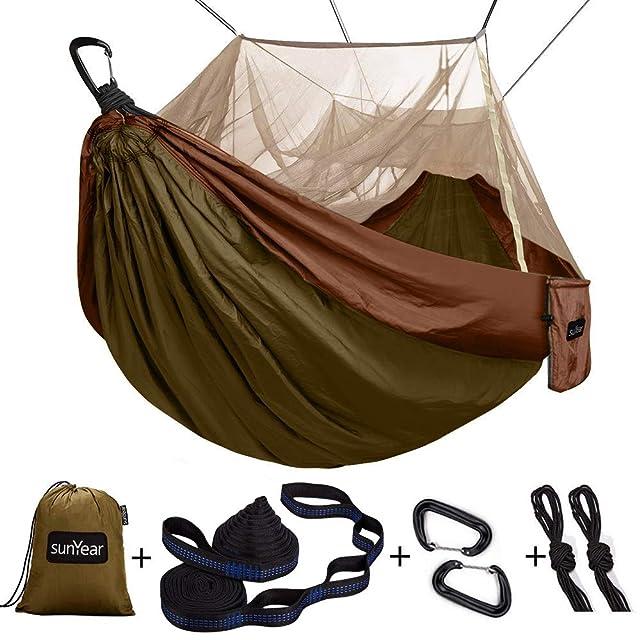 Sunyear Single & Double Camping Hammock