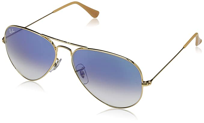 bcadc862a Rayban Aviator with Purple Mirror Lense and Gold Frame Unisex Adult ...