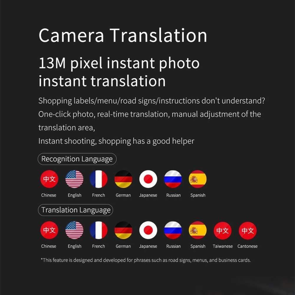 2.8-inch Touch Screen 45 Multi-Language Portable Translation Device Screen Translator FLYSXP Intelligent Translation Device Color : Blue