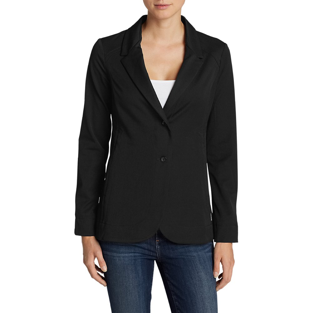 Eddie Bauer Women's Travel Blazer, Black 12