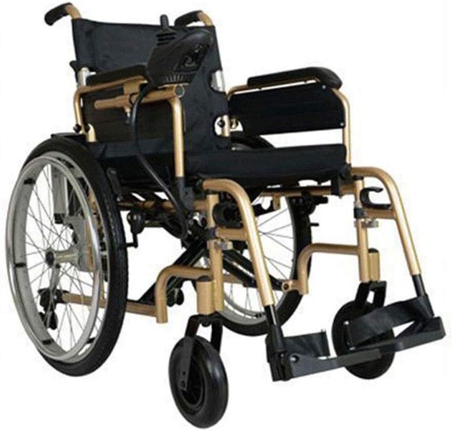 FTFTO Inicio Accesorios Silla de Ruedas Multifuncional Plegable Silla de Ruedas eléctrica Inteligente portátil Rotación del 360% Adecuado para: Ancianos/discapacitados (200W * 2)