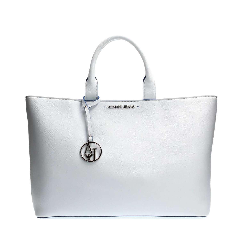 Armani Jeans Saffiano Grandes Bolso Blanco De Mano: Amazon ...