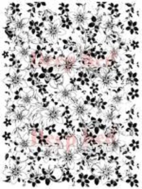 Deep Red Stamps Anemone Print Background Rubber Cling Stamp