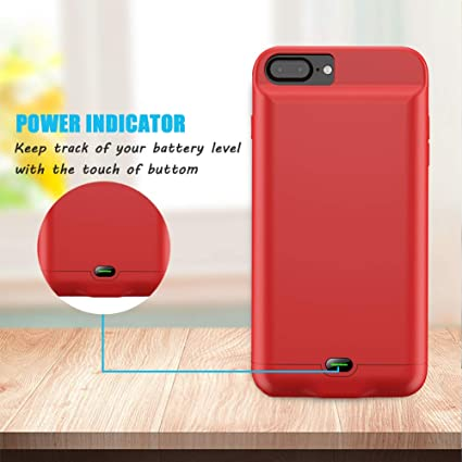 hot sale online f573d 2a829 Battery Case for iPhone 4 ,3200mAh Portable Charger Case - Red (6.1 inch)