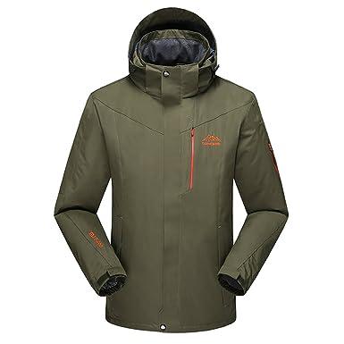 Lega Men s Waterproof Windproof Insulated Ski Jacket Mountain Hooded Fleece Jackets  Rain Snow Outdoor Coat ( 800872e2e