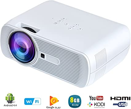 Yuntab BL-80 WiFi Mini Proyector Portátil Multimedia 1200 lúmenes ...
