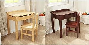 Melissa & Doug Child's Lift-Top Desk & Chair - Honey & Wooden Lift-Top Desk & Chair - Espresso