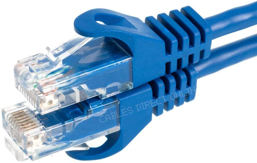 Cables Direct Online Snagless Cat6 Ethernet Network Patch Cable Blue 200 Feet