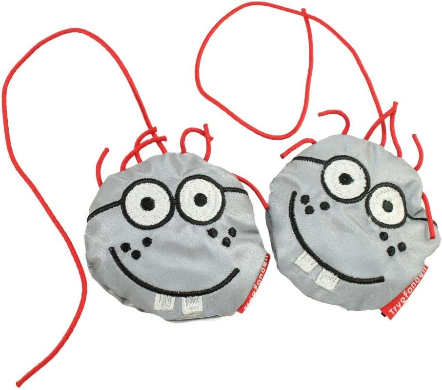 Reflective Doll for children/'s school bag Salzmann Cute Reflective Polyester Key Toy for children Outdoors shoulder bag and backpack reflective pendant Reflective pendant for Pupils bag