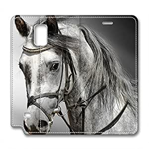 Horse's Head Design Leather Case for Samsung Note 4 Wind