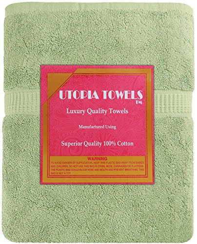 Utopia Towels Soft Cotton Machine Washable Extra Large Bath Towel (35-Inch-by-70-Inch) Luxury Bath Sheet, Sage Green