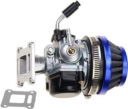 Goofit Tuning Vergaser Mit Luftfilter Für 2 Stroke 47cc 49cc Mini Pocket Bike Atv Gruppe Blau Auto