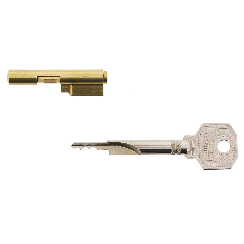 Burg Wächter Schlüssellochsperrer für Einsteckschlösser Zimmertürsicherung Zylinder Durchmesser 7 mm inkl 2 Schlüssel E 7 2 SB