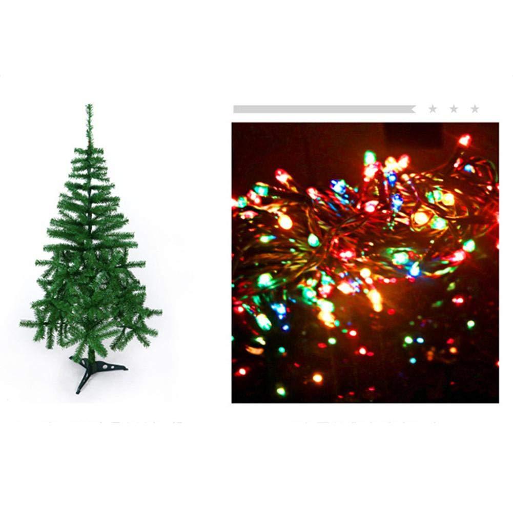 Decoraci/ón De Decoraci/ón De Centro Comercial De Hotel De Navidad mildily Adornos Artificiales De /Árbol De Navidad Decoraci/ón De Navidad De /Árbol Verde De 120 Cm 1.5M + Accesorios