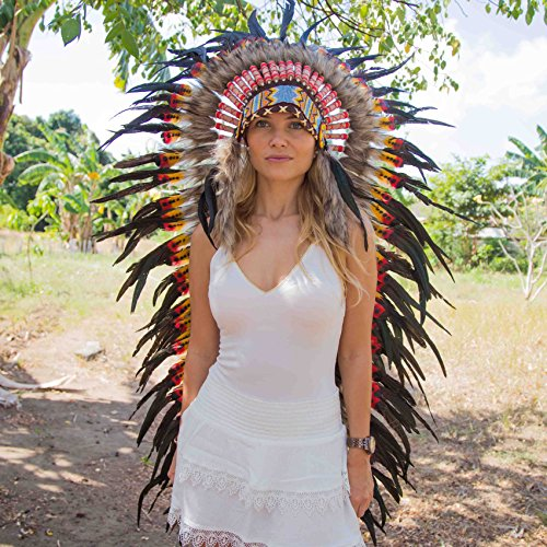 Novum Crafts Feather Headdress | Native American Indian Inspired | Multicolored by Novum Crafts (Image #1)