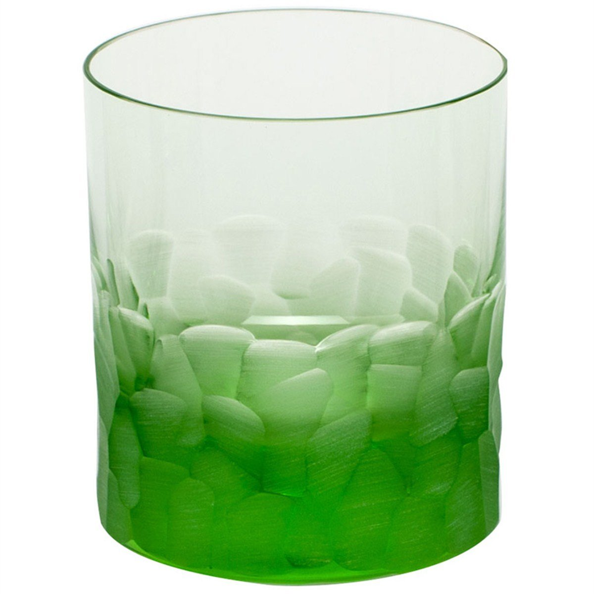 Moser Crystal Pebbles Double Old Fashioned Ocean Green