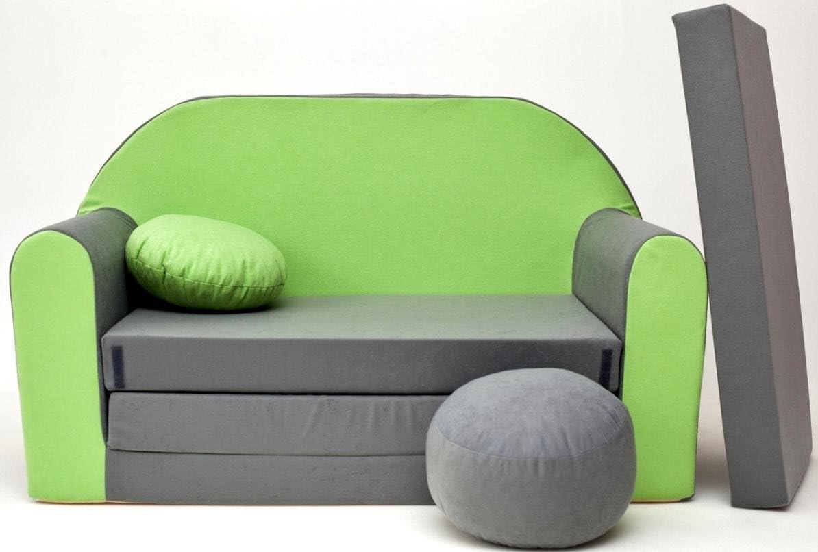 3/in 1/poltrona letto estraibile con motivo Per Dormire e giocare. /Divano letto per bambini neo4kids/ piccolo cuscino e un cuscino incluso
