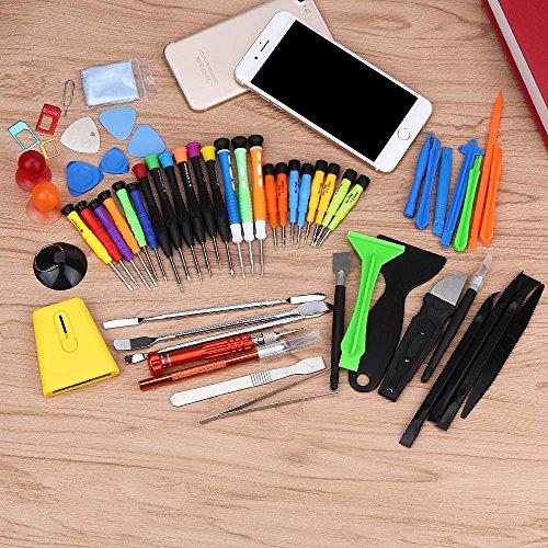 Tonsee 60 IN1 Handy Reparatur Öffnung Tools Kit Set Hebeln Schraubendreher für iPhone 7