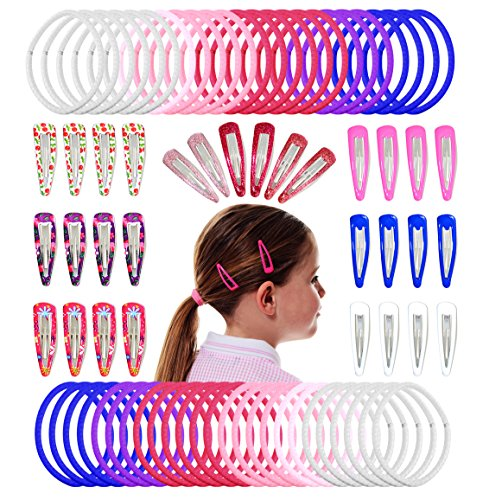 Sparkle Pixie Kit (HAIR ACCESSORIES FOR GIRLS: Giant 80 Piece Colourful Hair Accessories Set Of 30 Silicone Coated Hair Clips, Barrettes & 50 Hair Bands. Makes An Ideal Gift For Little Girls &)