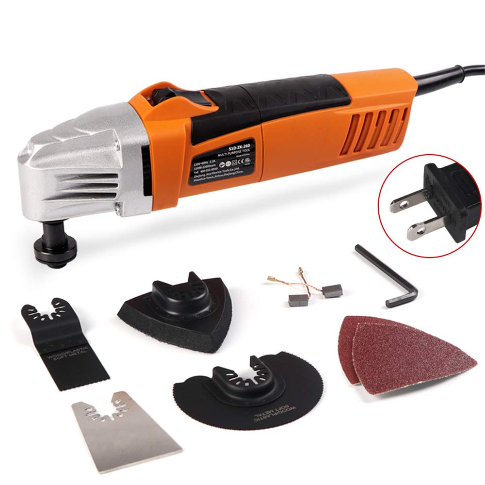 AMAZOIN Oscillating Tool Electric Multifunction Variable Speed Multi Tool Kit Handheld Home Renovating Oscillating Hand Multi Power Electric Trimmer Saw Accessories