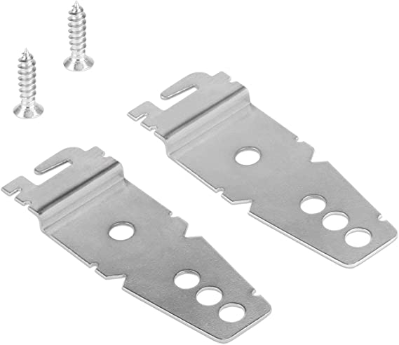 Dishwasher Mounting Bracket Whirlpool Kit 2 Pack + 2 Mounting Screws - Undercounter Dishwasher Brackets Compatible with Whirlpool/Kenmore/Kitchenaid/Maytag/Amana