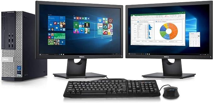 Dell Optiplex 9010 Desktop Computer- Intel Core i7 3.4GHz, 16GB DDR3, New 2TB HDD, Windows 10 Pro 64-Bit, WiFi, DVDRW + 2 New Dell Full HD 22 inch LED Monitor (Renewed) | Amazon