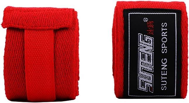 Dilwe Vendas para Mano de Boxeo Elástico 1 Par para Entrenamiento Taekwondo Muay Thai 4 Colores(Rojo): Amazon.es: Deportes y aire libre