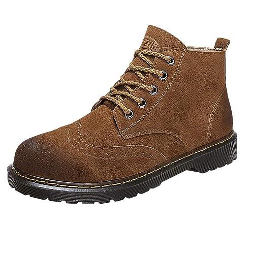 Botas Clasicas para Hombre,Hombres Retro Ankle Botas Herramientas Botas Botines británicos Estudiantes Botas Casual: Amazon.es: Zapatos y complementos