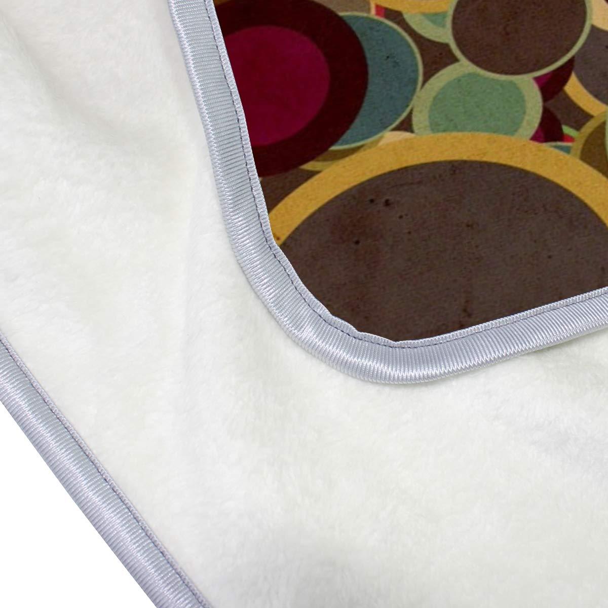 127 x 152 cm Vipsa Überwurfdecke leicht gemütlich superweiche Decke Büro Mikrofaser Sofa-/Bett-Überwurf für Betten warmes Polyester Schoß-Couch Plüsch schöne Bunte runde