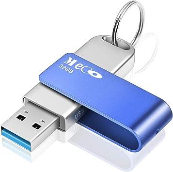 MECO ELEVERDE Pendrive 32gb 3.0 Memoria USB con Llevaro Flash Drive Aluminio Portátil USB Memory Stick para PC/Laptop/Notebook Azul: Amazon.es: Electrónica