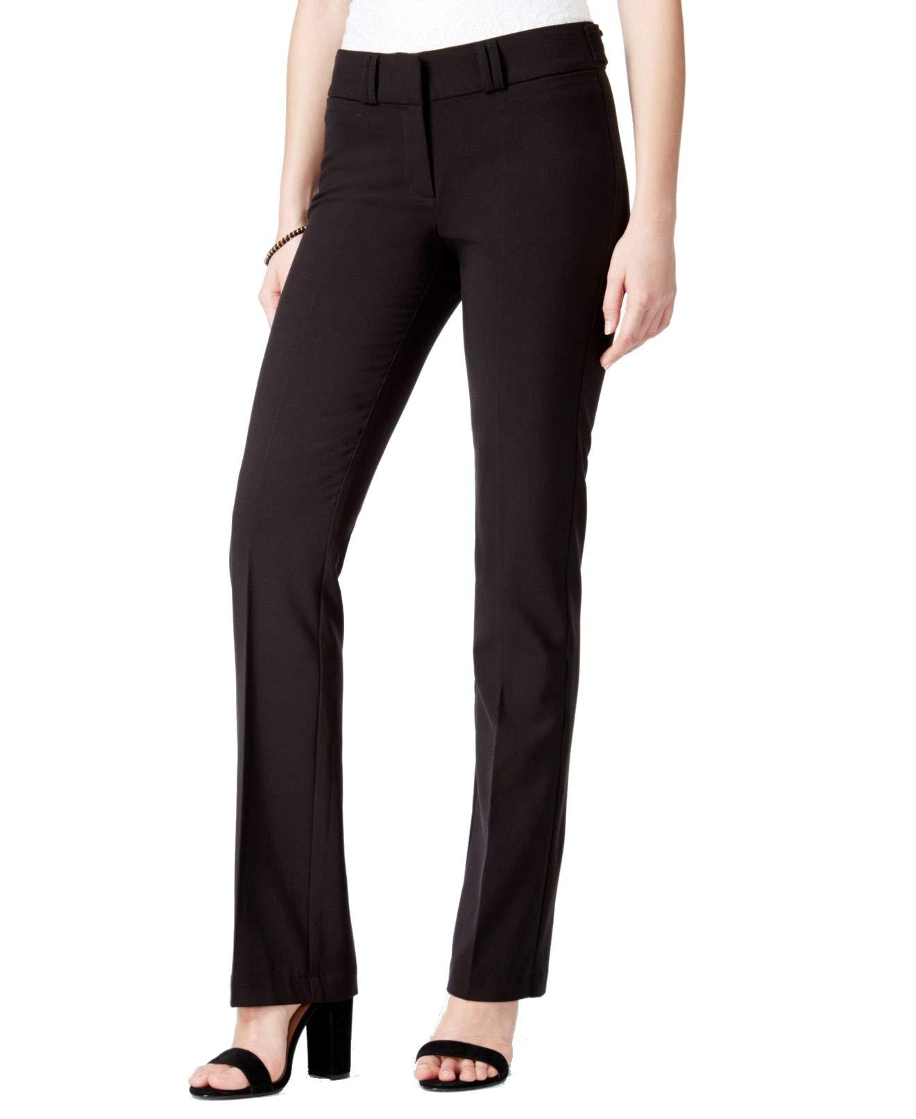 XOXO Solid 5/6 Junior Stretch Straight Leg Dress Pants Black 6