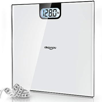 Amazon.com: Okaysou - Báscula digital para baño con pantalla ...