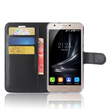 big sale 5540a 50d23 SMTR Blackview A7 Premium Leather Wallet case Cover Leather Wallet Flip  Cover with magnetic clasp for Blackview A7 Smart Phone-Black
