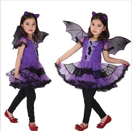 ZXYSHOP Disfraz De Halloween Niña 2-15 Años De Edad, Vestido Y ...